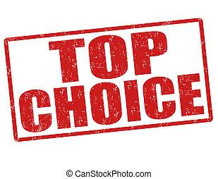 Top choice stamp
