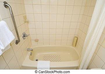 Top down of bathtub - Top down view of generic and luxurious...