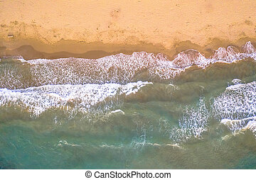 Top down view of beach