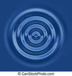 top down water ripple - a top down view of the rings of a...