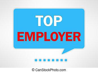 top employer - speech bubble illustration