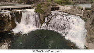 Looking at a part of the shoshone falls