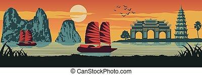 top famous landmark of Vietnam, Ship, Ha long bay, Emperor ...