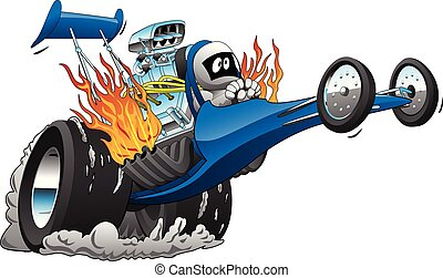 Top Fuel Dragster Cartoon Vector illustration