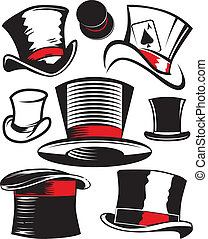 Top Hat Collection - Clip art collection of top hat symbols...