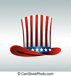 top hat flag president day decorative celebration