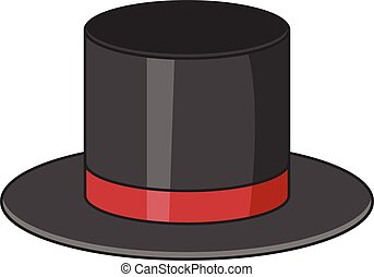 Top hat icon, cartoon style