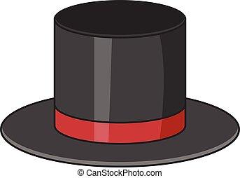 Top hat icon, cartoon style