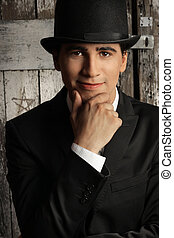 Top Hat Man - Young male model in top hat