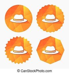 Top hat sign icon. Classic headdress symbol.