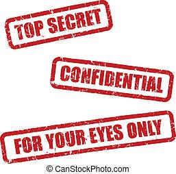 top hemmelighed, frimærker