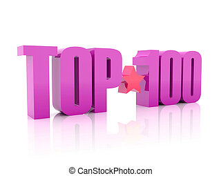 Top hundred violet word - Top hundred violet word isolated...