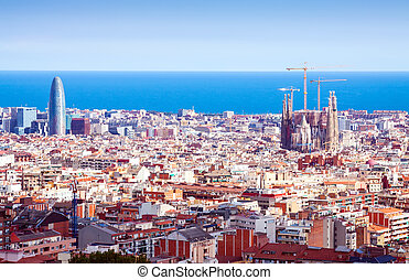 Top kind of Barcelona in sunny day