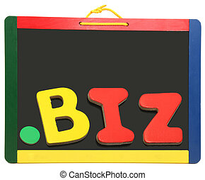 Top Level Domain Dot BIZ On Chalkboard