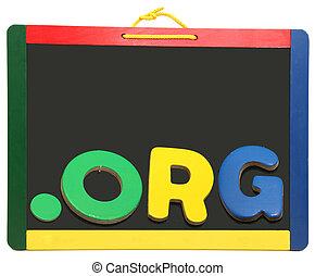 Top Level Domain Dot ORG On Chalkboard - Top Level Domain...