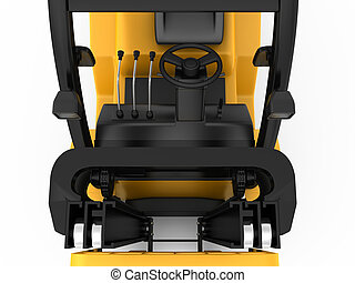 top mechanism of forklift. 3d rendering