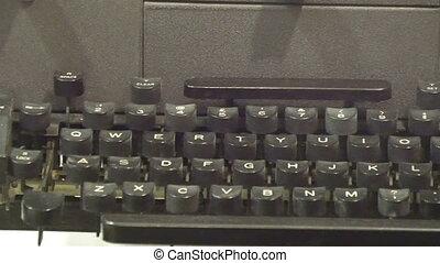 top model noire, vieux, machine écrire