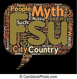 Top myths about the FSU countries text background wordcloud concept