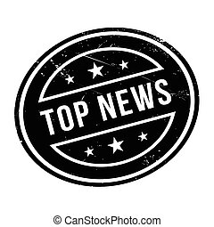 Top News rubber stamp