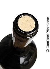 Top of a wine bottle