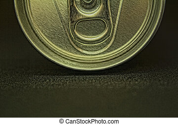 Top of can in macro detail