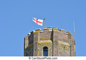 Top of castle tower