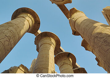 Top of columns in Karnak temple