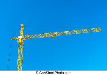 top of construction crane