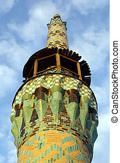 Top of minaret - Amir Chakmak complex in Yazd, Iran