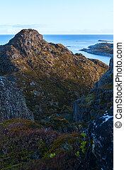 Top of mountain on island Skrova on the Lofoten
