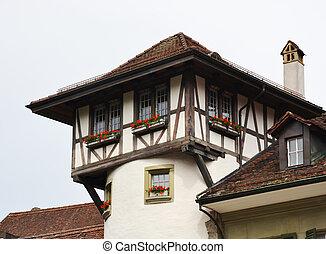 Top of old building in Bern.