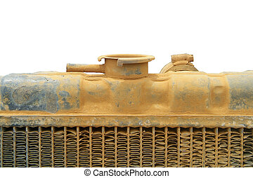 Top of old tractor radiator