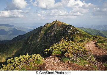 Top of Pip Ivan mountain in Maramures