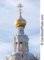 Top of Russian country church