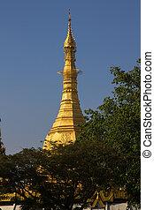 Top of Sule Pagoda, Yangon, Burma.
