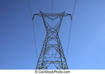 Top of the big electricity pylon