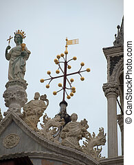 Top of the cathedral of Saint Mark