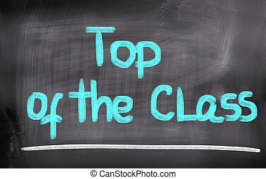 Top Of The Class Concept
