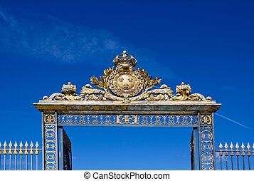 gate of the castle of Versailles