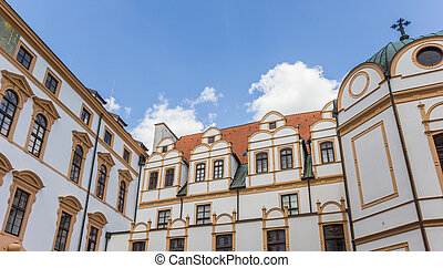 Top of the historic castle in Celle