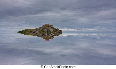 San Juan de Gaztelugatxe reflex timelapse - Top of the islet...