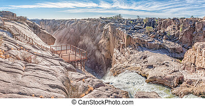 Top of the Main Augrabies waterfall in the Orange River