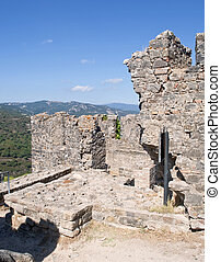 Top of the wall of the castle