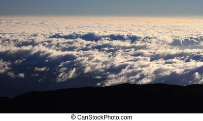 Time lapse of the clouds seen from the summit of Mauna Kea in Hawaii