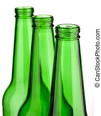 top of three bottle isolated