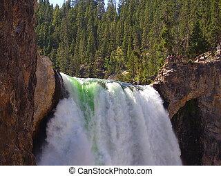 Yellowstone falls - Top of Yellowstone falls