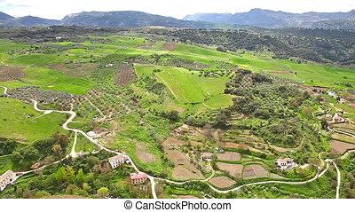 Top panorama of Ronda
