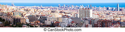 residence district in Barcelona in sunny day