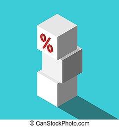 Top percent cube, stack