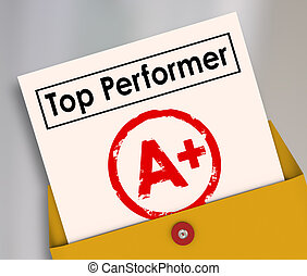 Top Performer Report Card Best Score Student Rating Review